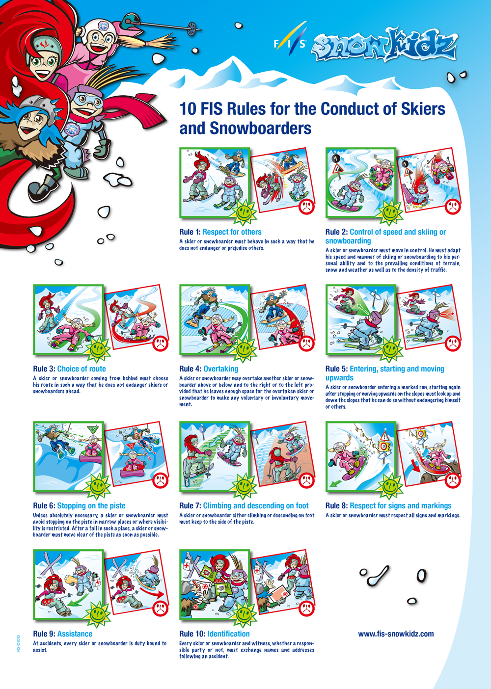 Ski Area Safety and Rules